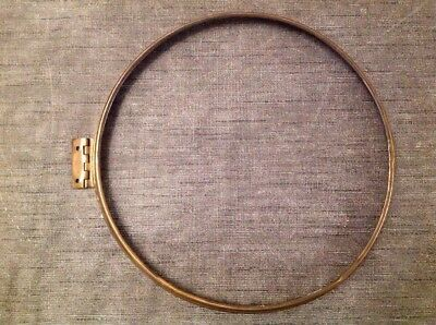"Antique Wall Clock Brass Bezel 10.5"" Diameter"