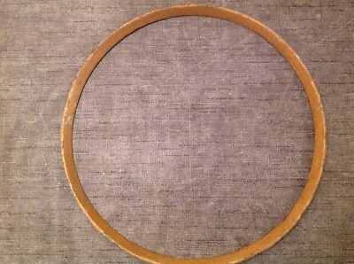 "Antique Wall Clock Brass Bezel Retaining Ring Solid Cast Brass 11.75"" Diameter"