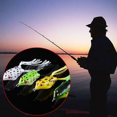1Pc Cute Ray-frog Topwater Bait Fishing Lures Crankbait Sharp Hooks Bass Tackle