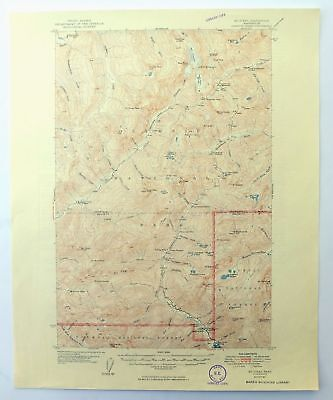 Mount Steel Washington Vintage 1950 USGS Topographic Map Olympic National Park