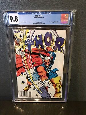 Thor #337 CGC 9.8 White Pages First Appearance Beta Ray Bill Newsstand Barcode