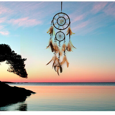 Durable Dream Catcher With feathers Wall Hanging Decoration Decor Bead Ornament