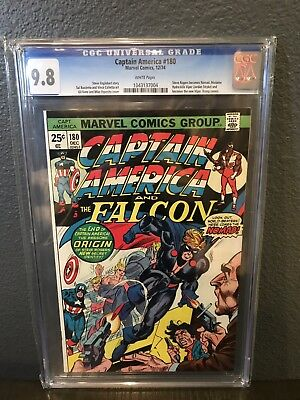 Captain America & Falcon 180 CGC 9.8 White Pages First Appearance Nomad Census 7