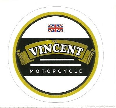 VINCENT  MOTORCYCLE  Sticker Decal