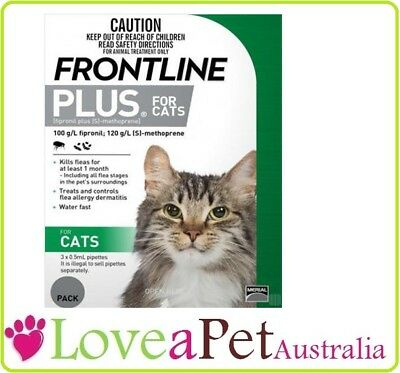 Frontline Plus Flea Treatment For Cats - 3 pack, 6 pack, 9 pack ON SALE