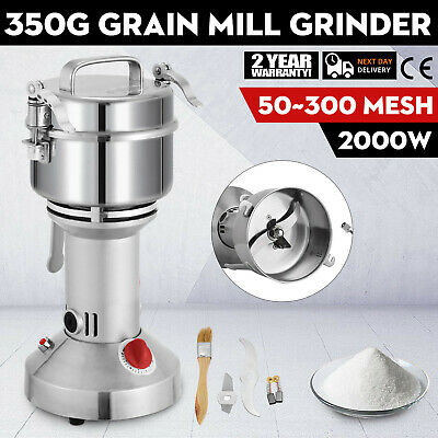 350g 2KW Electric Herb Grain Mill Grinder Household Cereal Flour Powder Grinding