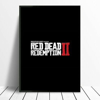 Red Redemption 2 Ii Poster Wall Art Print A4 A3 Christmas Birthday Gift Boy Deco