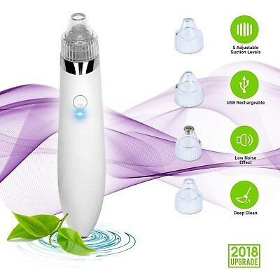 AU Blackhead Remover Vacuum Rechargeable Electric Facial Skin Pore Acne Cleaner