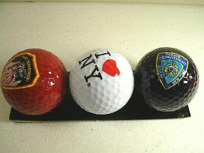 Golf Balls - New York Police, New York Fire Department, I Love NY - Set 3 Balls
