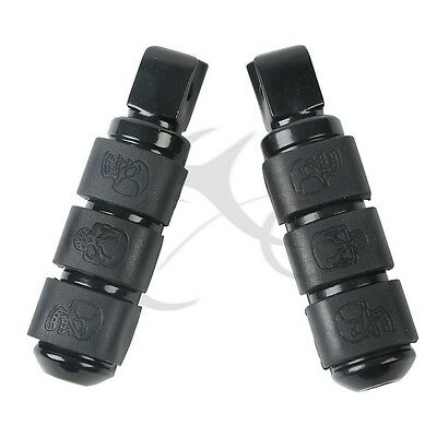Black Aluminum Front Footrest Footpegs For Yamaha ROAD STAR WARRIOR 1999-2006
