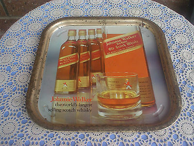 Johnnie Walker Red Label Metal Tray Old Scotch Whisky