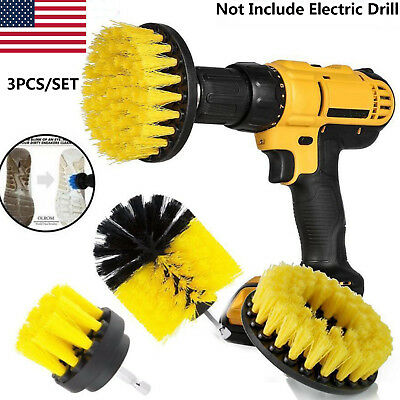 3Pcs/Set Tile Grout Power Scrubber Cleaning Drill Brush Tub Cleaner Drill Combo