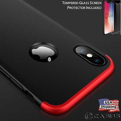 For iPhone XS MAX XR Ultra Slim Tempered Glass Screen Protector Thin Case Cover