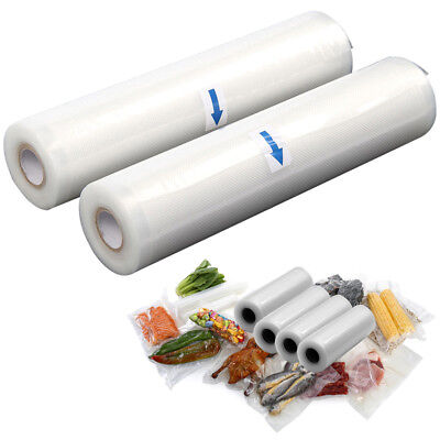 Reusable Food Saver Roll Vacuum Sealer Bag Storage Organizer Bags Wrap Case Pack