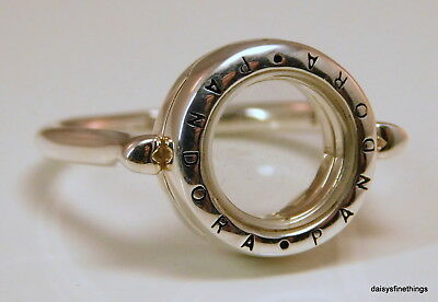b63e5e1dd New/tags Authentic Pandora Floating Locket Ring #197251-58 Sz 8.5 Retired