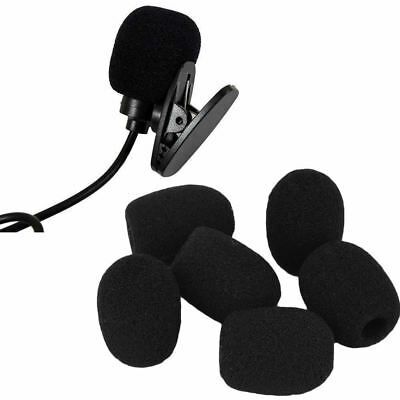 10Pcs Small Black Headset Microphone Windscreen Sponge Foam Mic Cover Pop Filter