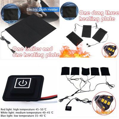 USB Electric Clothes Heater Sheet Adjustable Winter Heating Pad Warmer Tool IT