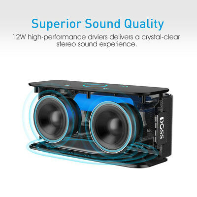 DOSS DS - 1681 Mini Player Portable Touch Wireless Bluetooth 4.0 Stereo Speaker