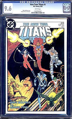 New Teen Titans  #1 Cgc 9.6 White Pages