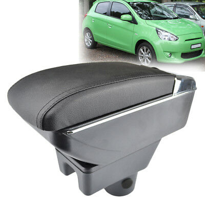Armrest For Mitsubishi Attrage Mirage 2014-2018 Dual Layer Storage Box Arm Rest