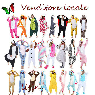 Pigiama kigurumi intero tuta carnevale feste animali zoo costume party Christmas