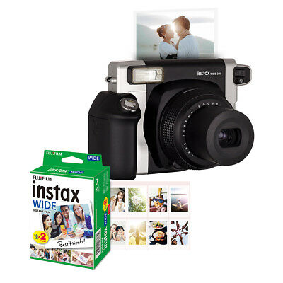 Fujifilm Instax WIDE300 Instant Film Camera+Battery+20 Sheets Photo Paper S2P8