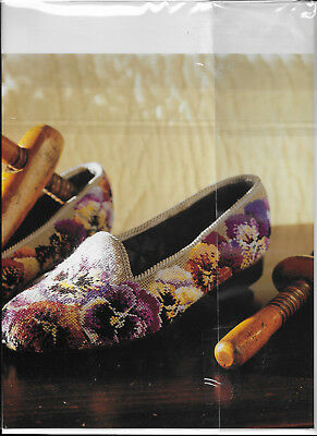 Pansy Pansies Slippers Elian McCready Tapestry Needlepoint Chart Colour
