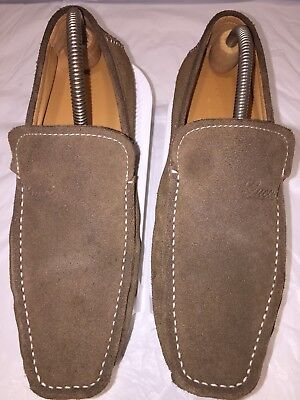 43e8aa37e74  GUCCI  Men s Brown Suede Driving Moccasins Loafers Shoes Sz 42 Italy