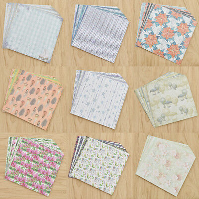 24ppcs Retro Style Scrapbooking Paper Handmade Craft Paper Craft Background Pad