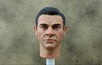1/6 Scale Male Sean Connery Head Sculpt Fit for Phicen Hot Toy Body