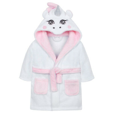 Baby Girls 3D Unicorn Dressing Gown Newborn Cute Novelty Bath Robe Shower Size