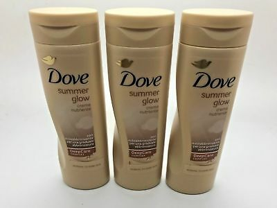 Dove Summer Glow Body Lotion for Normal to Dark Skin 250ml Pack of 3