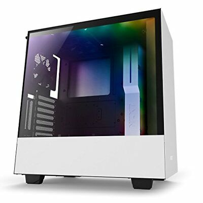 Nzxt CA-H500W-W1 H500i No Power Supply Atx Mid Tower W/ Lighting And (cah500ww1)