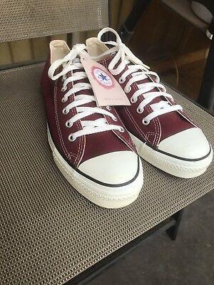9a83d2ce35a1 Converse All Star Chuck Taylor Low MADE IN USA Maroon US 10.5 VINTAGE 90 s  RARE