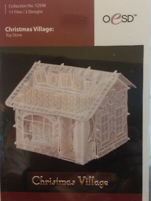 CHRISTMAS VILLAGE TOY Store Shop Lighted Display - $32.99 | PicClick