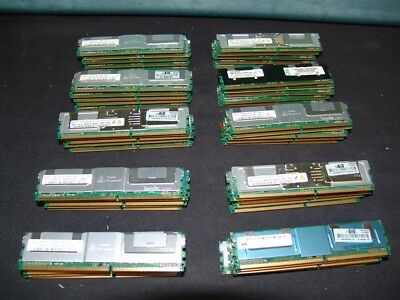 Lot of 50 4GB PC2-5300F DELL IBM HP SERVER RAM MEMORY! MIXED BRANDS!