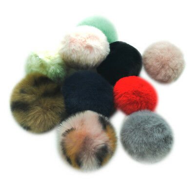 10x Pom Poms Ball Fluffy Balls for Sewing on Clothing Bag Hat Costume Decor