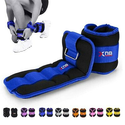 XN8 Ankle Leg Straps Wrist Weights Running Training Exercise Fitness Yoga Gym