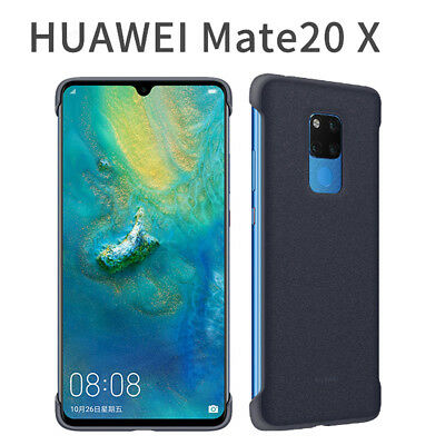Blue Original PU Leather Case Support For Huawei Mate 20X magnetic car holder