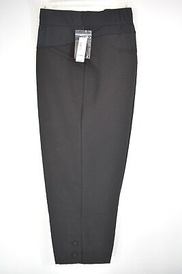 New  Black Large & X Large Duo Crop Dress Maternity Pants Was $36.00