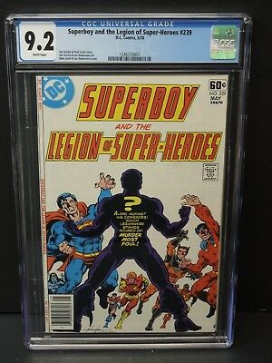 Dc Comics Superboy & The Legion Of Super-Heroes #239 1978 Cgc 9.2 White Pages