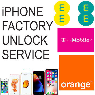 UNLOCK CODE SERVICE FOR APPLE IPHONE 7 7 Plus 8 Plus XS XS MAX XR UK EE TMOBILE