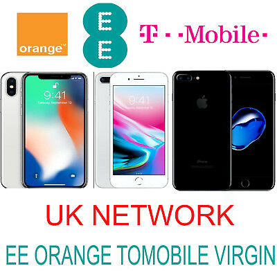 UNLOCK CODE SERVICE FOR IPHONE 6S 6S PLUS 6 PLUS 7 8 Plus X UK EE TMOBILE VIRGIN