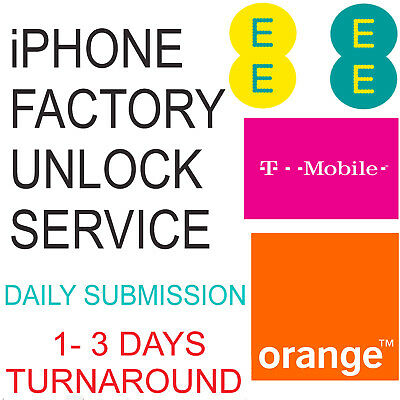 UNLOCK CODE SERVICE FOR IPHONE 5 5s 5c 6 6s 6 Plus 6s Plus UK EE ORANGE TMOBILE