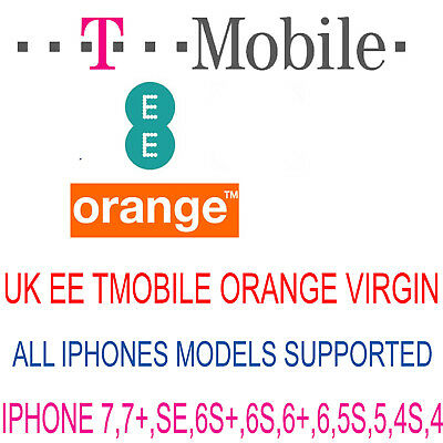 UNLOCK CODE SERVICE FOR IPHONE 5S 5C 6 6 Plus 6S 6S Plus 7 UK EE TMOBILE VIRGIN