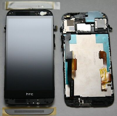 HTC One M8 Display mit Rahmen LCD Touch Screen Glas Front Touchscreen schwarz