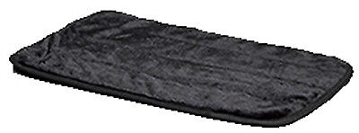 MIDWEST METAL PRODUCTS Pet Mat, Black Synthetic Fur, 42-In. 40442-BK