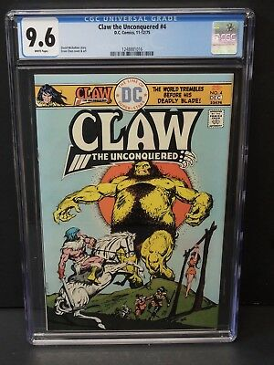 Dc Comics Claw The Unconquered #4 1975 Cgc 9.6 White Pages Ernie Chan Cover/art