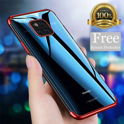 For Huawei P20 Pro Mate 20 Lite Case + Screen Protector Hybrid Shockproof Cover
