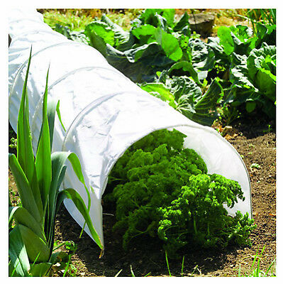 WORLD SOURCE PARTNERS Garden Grow Tunnel, White Polythene, 18-In. x 10-Ft. 7684